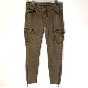 Antique Rivet Bailey Army Skinny Cargo Jeans